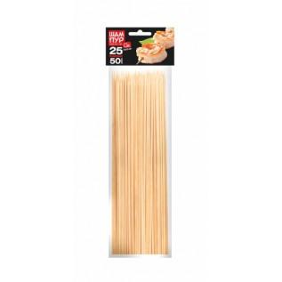 Шампуры деревянные GRIFON, 250 мм в упаковке, 50 шт. /38/1