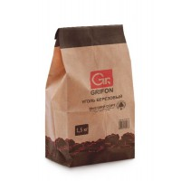 Уголь березовый GRIFON 1,3 кг крафт-пакет /1