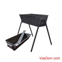 Мангал стационарный GRIFON Premium 53x24x60 см, сталь 2 мм /1