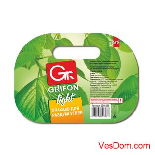 Опахало для костра GRIFON Light, картон, 22 x 16см /100/1