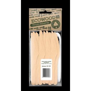 Ножи деревянные GRIFON Ecowood, 165 мм, 10 шт. в упак./100/10/1