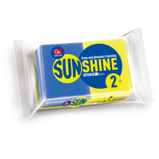 Губка из поролона GRIFON SUNSHINE волна 2шт. в упаковке /40/1