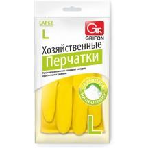 Перчатки латексные GRIFON с хлопковым напылением, р-р L /36/1