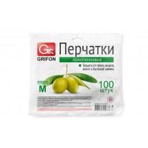 Перчатки полиэтиленовые GRIFON, р-р М, 100 шт. в конверте/50/1