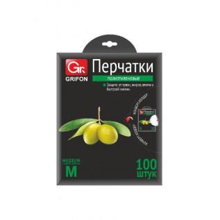 Перчатки полиэтиленовые GRIFON, р-р L, 100 шт. в конверте /50/1