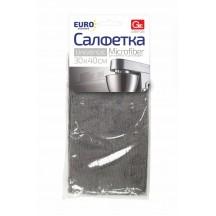 Салфетка из микрофибры GRIFON Eurostandard  30х40 см, 1шт. 24/1