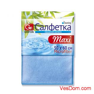 Салфетка из микрофибры GRIFON МАXI 50 х 60 см, 1 шт. в уп. 100/10/1