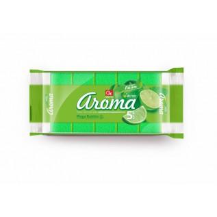 Губка из поролона GRIFON АРОМА лайм 5шт в упаковке/36