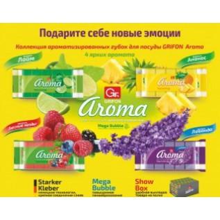 Губка из поролона GRIFON АРОМА волна микс 3 шт. в упаковке/30/1