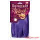 Перчатки латексные GRIFON Art L Фиолет с хлопковым напылением