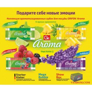 Губка из поролона GRIFON АРОМА микс 5шт в упаковке/36