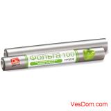 Фольга алюминиевая 9 мкм GRIFON стандартная 29 см х 100 м