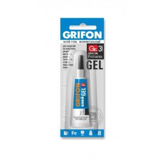 Клей-гель моментальный универсальный GRIFON, 3 гр в инд. упаковке /288/12