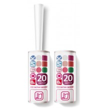 Набор для чистки одежды GRIFON: ролик + сменный блок, 90 листов в упаковке, арт 307-057