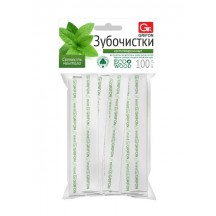 Зубочистки из дерева GRIFON мята в инд.бум.упак.с печатью 100шт/72/6/12/1
