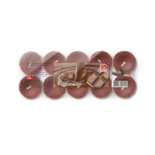 Свечи чайные GRIFON Шоколад, 20 шт. в п/э упаковке /12/1