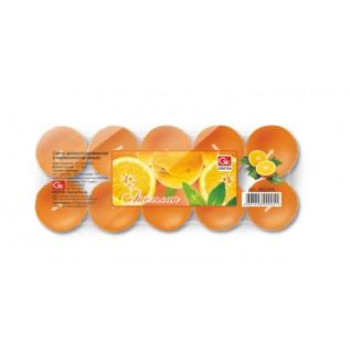 Свечи чайные GRIFON Апельсин, 20 шт. в п/э упаковке /12/1