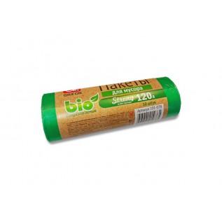 Мешки для мусора GRIFON Bio 120л (22 мкм) ПВД зеленые, 10 шт. в рулоне/20/1