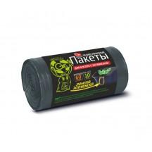 Пакеты д/мусора с завяз. GRIFON, 60л (11 мкм) черные, 10 шт. в рул/36/1