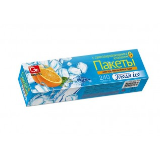 Пакеты для льда GRIFON самозакрывающиеся 240 кубиков в ...