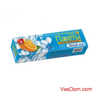 Пакеты для льда GRIFON самозакрывающиеся 240 кубиков в коробке/24/1