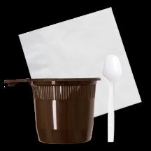 Набор для пикника кофейный GRIFON на 5 персон в п/п упаковке, арт 105-223