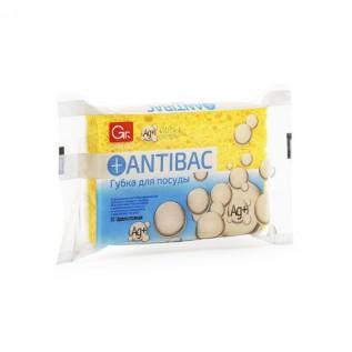 Губка целлюлозная GRIFON ANTIBAC Soft с мягким абразивом, 1 шт. /45/1