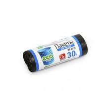 Пакеты для мусора GRIFON 30 л (7 мкм) ПНД черные, 25 шт в рулоне /40/1