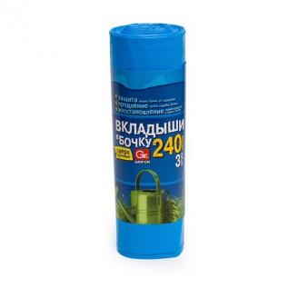 Пакеты (вкладыши в бочку) двухслойные GRIFON,240л,90х140см,3 шт.в рул./14/1