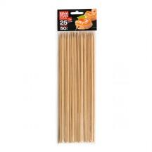 Шампуры деревянные GRIFON, 250 мм в упаковке, 50 шт. /86/1