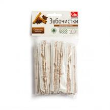 Зубочистки из дерева GRIFON корица в инд.бум.упак.с печатью 100шт/72/6/12/1