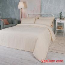 Набор постельного белья Золотой песок (100% бамбук) KING SIZE  жаккард
