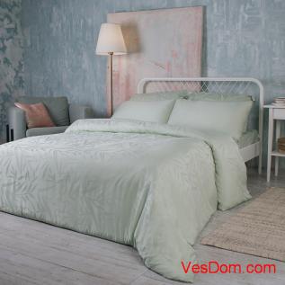 Набор постельного белья Нежная олива (100% бамбук) KING SIZE жаккард